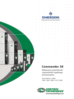 Commander SK - Emerson Industrial Automation