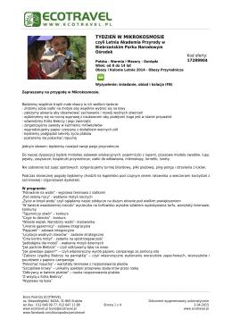 Portal Turystyczny EcoTravel.pl - wakacje, wczasy, obozy, lato