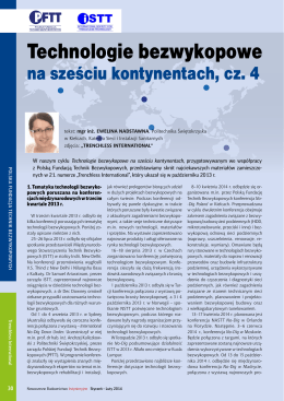 Technologie bezwykopowe na sześciu kontynentach, cz. 4