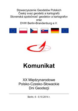 Rytro 1-szy komunikat - Český svaz geodetů a kartografů
