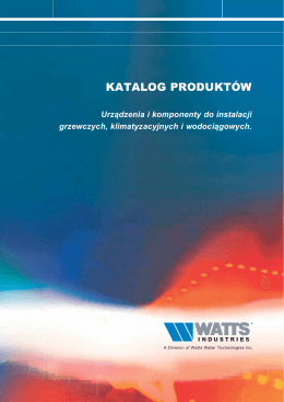 Pobierz katalog - WATTS industries