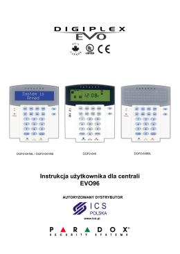 Instrukcja użytkownika centrali alarmowej EVO96