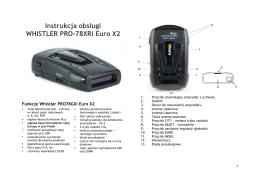 Instrukcja obsługi WHISTLER PRO-78XRi Euro X2