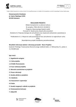 Stowarzyszenie Inicjatywa pl. Sejmu Śląskiego 2/425 40