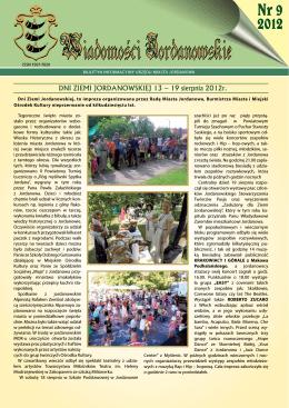 Nr 9 2012 - Urząd Miasta Jordanów