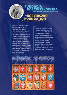 fundaCja KośCiuszKowsKa KosCiuszKo foundation