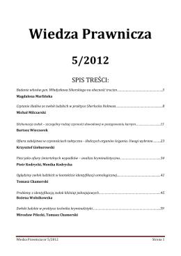Wiedza Prawnicza nr 5/2012 roku