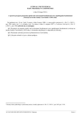 Uchwa•a Nr XXVII/281/14 z dnia 26 lutego 2014 r.