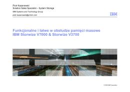 Funkcjonalne i łatwe w obsłudze pamięci masowe IBM Storwize