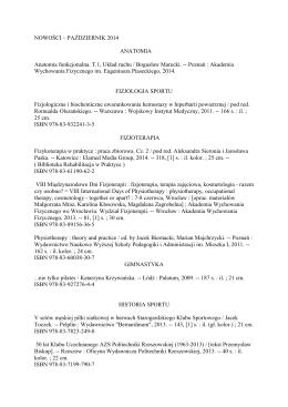 październik 2014 - Akademia Wychowania Fizycznego we Wrocławiu