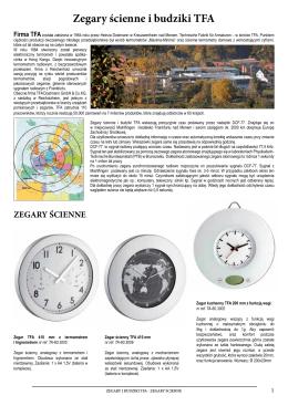 Zegary ścienne i budziki TFA