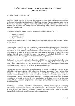 ogólne warunki cynkowania wyrobów przez stp elbud sp. z oo