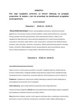 (Program dla wydziału lekarskiego semestr II 2011