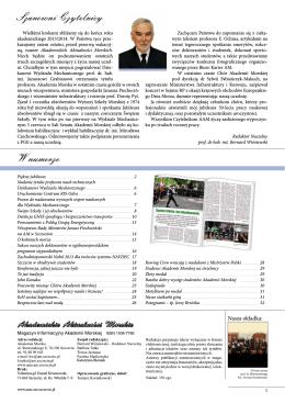 Szanowni Czytelnicy W numerze - Akademia Morska w Szczecinie