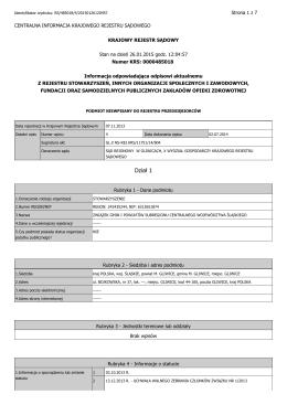 Wypis z Krajowego Rejestru Sądowego Związku Gmin i Powiatów
