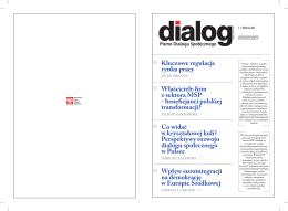 Dialog Nr 2/2014 - Wojewódzka Komisja Dialogu Społecznego w