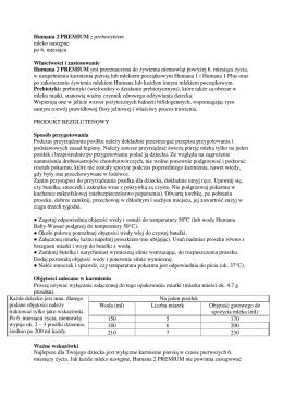 Humana 2 PREMIUM z prebiotykiem mleko następne po 6. miesiącu