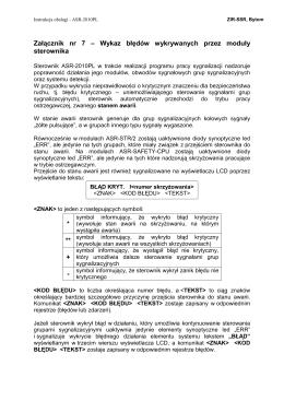 ASR-2010PL-Załącznik nr 7-Wykaz błędów