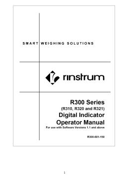 Instrukcja obsługi miernika R320
