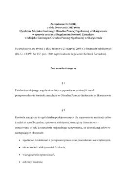 czytaj - Miejsko Gminny Ośrodek Pomocy Społecznej w Skaryszewie