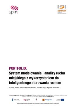 Raport koncepcja systemu modelowania i analizy ruchu miejskiego