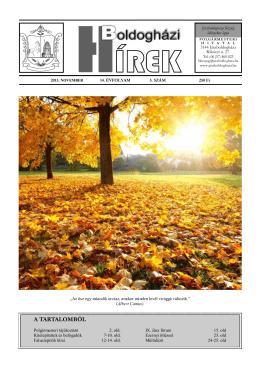 Boldogházi Hírek 2013. november