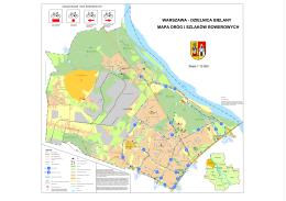 warszawa - dzielnica bielany mapa dróg i szlaków rowerowych
