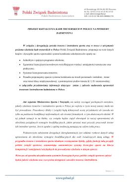 tutaj - Polski Związek Badmintona