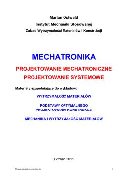 Mechatronika dla mechaników - Zakład Wytrzymałości Materiałów i