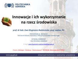 Innowacja - Forum Ekologia-Edukacja