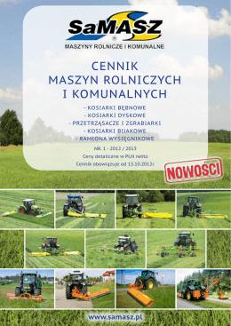 cennik maszyn rolniczych i komunalnych