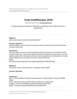 przykładowy plik - Java Testy kwalifikacyjne