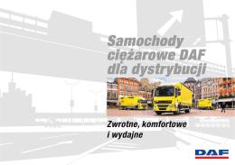 Więcej o dystrybucji pojazdów DAF