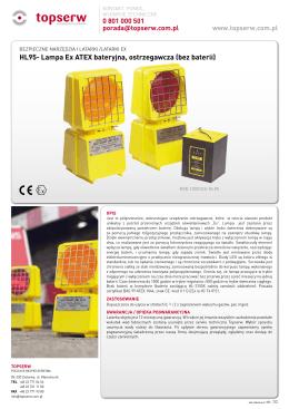 HL95- Lampa Ex ATEX bateryjna, ostrzegawcza (bez
