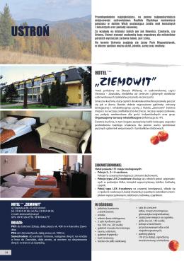 """USTROŃ """"ZIEMOWIT"""" - hotel *** ziemowit"""