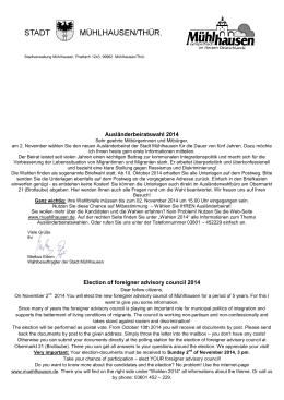 Ausländerbeiratswahl 2014 Election of foreigner
