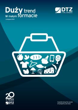 Raport DTZ dotyczący małych formatów handlowych