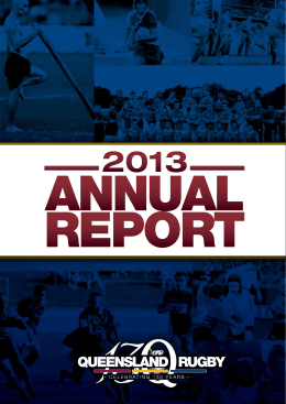 2013 Queensland Rugby Annual Report I