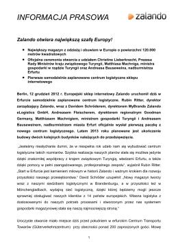 Zalando erhält Kredit in Höhe von 40,7 Millionen EUR