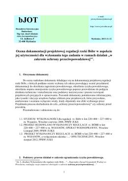 Zał. 7.10. Ocena dokumentacji projektowej regulacji rzeki Bóbr