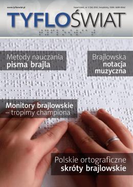 pisma brajla Polskie ortograficzne skróty brajlowskie