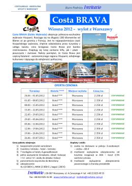 Costa BRAVA - Biuro Podróży INVITATIO