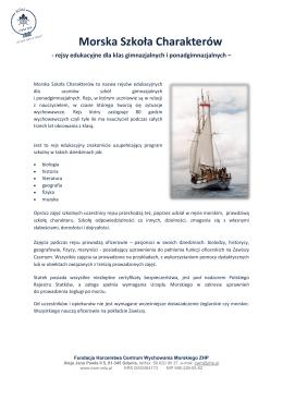 Morska Szkoła Charakterów - Centrum Wychowania Morskiego ZHP