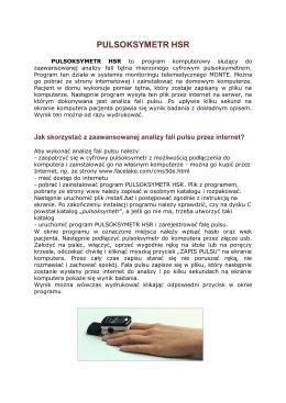 PULSOKSYMETR HSR