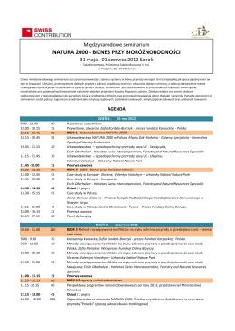 program seminarium - Fundacja Karpacka Polska
