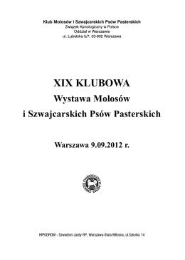 XIX Klubowa Wystawa Molosów i Szwajcarskich Psów Pasterskich