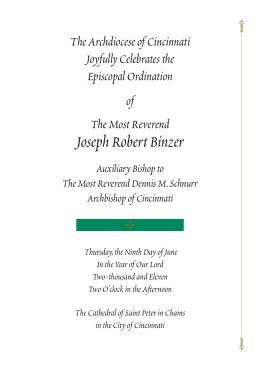 Joseph Robert Binzer - Archdiocese of Cincinnati