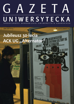 Nr 5 (125) Listopad 2011 - Gazeta Uniwersytetu Gdańskiego