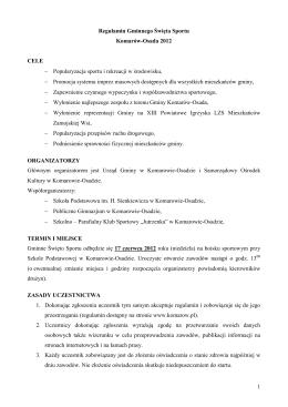 Regulamin Gminnego Święta Sportu.pdf - Gmina Komarów