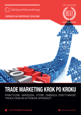 TRADE MARKETING KROK PO KROKU